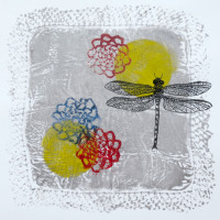 Handkerchief with Dragon Fly