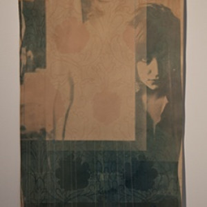 always with me, cyanotype and thread, 2010