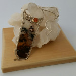Innerspace Wearable Sculpture - Silver, Agate, Amber, Quartz, Wood