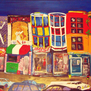 South Street, 36x48, acrylic on canvas, 2011