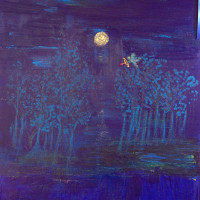 "Forest, 40X30, 2011, Best in Show ""Envisioning a Midsummer Night's Dream"