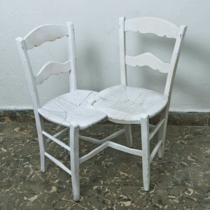 double chair, 2012, sculpture, 82 x 80 x 65 cms