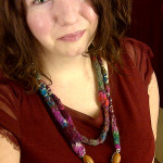 \'IndigeKnits\' Felted Beaded Necklace