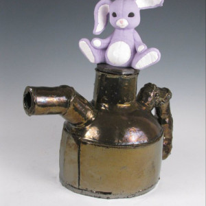 Dysfunctional Teapot with Exquisite Bunny  2012 [Ceramic]