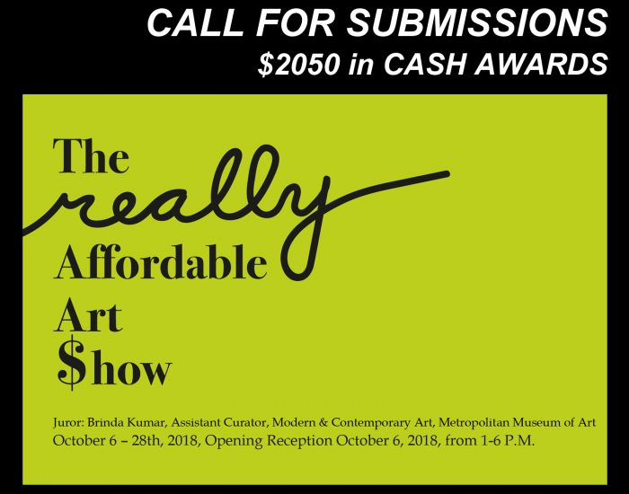 really Affordable Art $how 2018 – Call For Artists