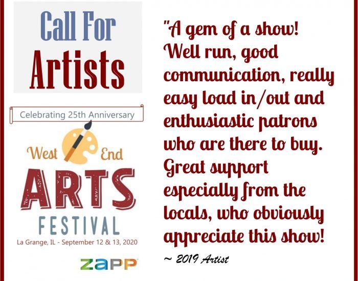 West End Arts Festival (La Grange, IL) – Call For Artists