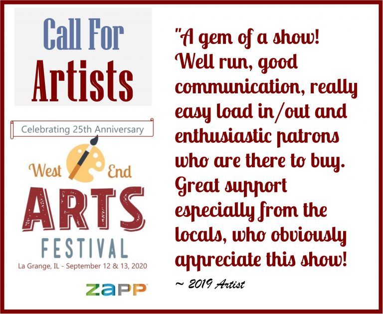 West End Arts Festival (La Grange, IL) – Call For Artists