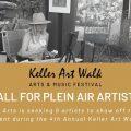 Keller Art Walk Plein Air Artists (Keller, TX) – Call For Artists
