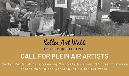 Keller Art Walk Plein Air Artists (Keller, TX) – Call For Artists