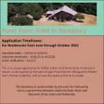 Pond Farm Artist In Residence Program (Guerneville, CA) – Call For Artists